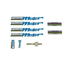 Francesco Moser Bicycle Decals, Stickers - Blue - n.17