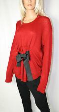 Cora Kemperman Designer Mohair  Pullover mit Schleife  Gr. XL  Oversize Rot