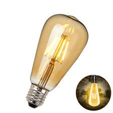 ST64 Antique Style Edison Vintage LED 4W Candle Light Bulbs Industrial Retro E27