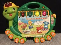 Vtech TOUCH AND TEACH TURTLE Learning Toy Book ABCs Music Numbers Easy Words
