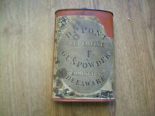Antique Du Pont Superfine F Gunpowder Tin