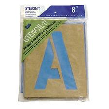 "Large Alphabet Stencils Letters 8"" Stencil Oil Board Numbers Symbols Reusable ."