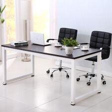 Wood Computer Desk PC Laptop Study Table Workstation Home Office Furniture Black