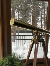 Bausch & Lomb Harbor Master Brass Telescope -- Very rare and HTF with Lens Cover
