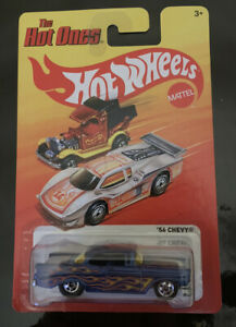 Hot Wheels Hot Ones 56 Chevy Blue Flamed Long Card Rare Htf