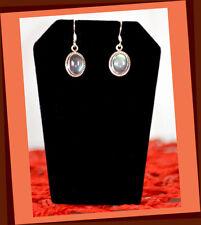 Sterling Silver Natural Labradorite Gemstone Dangle Drop Hook Earring Jewelry