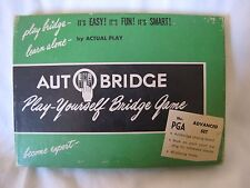Vintage Auto Bridge game 1957 Play-Yourself Bridge Game Made in USA