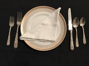 Kirk Repousse, 30 piece set of Sterling Silver Flatware, Excellent Condition