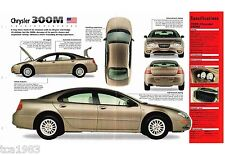1998/1999 Chrysler 300M 300-M SPEC SHEET/Brochure/Flyer, '99