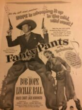 Fancy Pants, Bob Hope, Lucille Ball, Full Page Vintage Promotional Ad