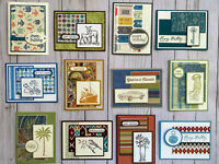 12 Handmade Male Birthday greeting cards envelopes Men's Stampin' Up! +more