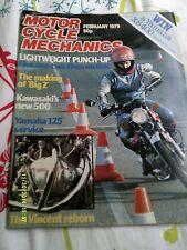 motorcycle mechanics(feb1979)Z500 ,Z1300/SR500/Vincent/RS100,,RS125X/KH125/GP125
