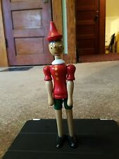 Pinocchio Wooden Doll FIGURE 9.5 INCHES Jointed Wood Rare