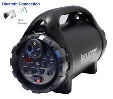 Boytone BT-46BK Portable Bluetooth Indoor/Outdoor 2.1 Hi-Fi Cylinder Speaker FM
