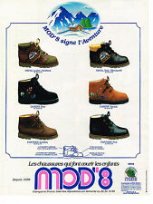 PUBLICITE ADVERTISING 074  1991  MOD '8    chaussures enfants