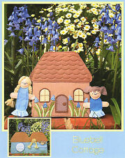 BLUEBELL COTTAGE PLAYSET - Sewing Craft PATTERN - Felt Rag Doll House