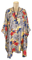100% VISCOSE LAGENLOOK OVERSIZED FLOATY KAFTAN TUNIC TOP SIZE 24 26 28 30 32 34