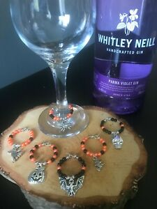 Set of 6 Halloween Wine Glass Charms