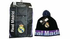 Real Madrid C.F. Official Licensed Soccer Cinch Bag & Beanie Combo 03-1