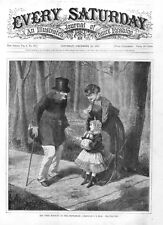 Say Good Morning to the Gentleman -  by C. G. Bush  - 1870 Victorian Print