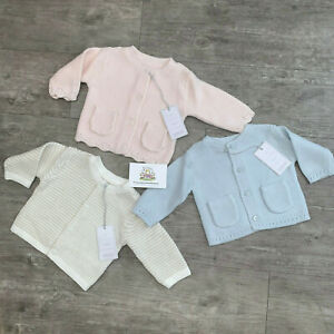 Mothercare Baby Knitted Cardigan Boys Girls Cute Button Up Cardi Cotton Jacket