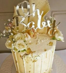 Oh Baby  Cake Topper for Birthday and Baby Shower Cake Decoration 100% UK Seller