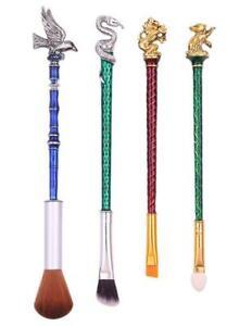 4PCS Harry Potter Hogwarts Cosmetics Makeup Brushes Tools Set Kit B38
