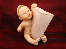 Vase Figurine Pique-fleurs Bebe Ange Piano Baby Style italien Porcelaine Biscuit