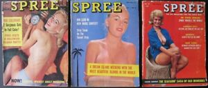 Lot of 3 Vintage SPREE Magazines - 1959 - 1962 - Terry Higgins, Virginia Bell