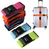 1Pc Travel Luggage Suitcase Secure Lock Durable Nylon Packing Strap Belt SK MW