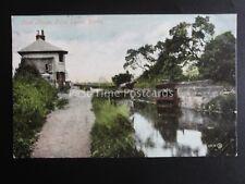 DERBY CANAL Little Eaton Lock House c1906 DERBY DUPLEX 242 by Valentine 49573