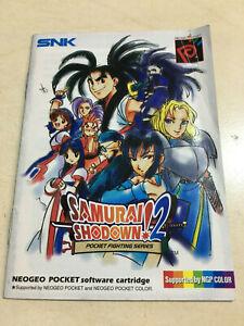 Samurai Shodown 2 manual for the SNK Neo Geo Pocket