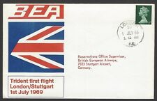 BEA Trident First Flight cover 1969 London to Stuttgart