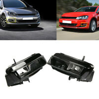 1Pair Front Left & Right Bumper Fog Light Halogen Lamp Fit For VW Golf MK7 12-16