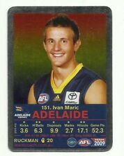 2009 AFL TEAMCOACH SILVER ADELAIDE CROWS IVAN MARIC #151 CARD FOOTY FACT?