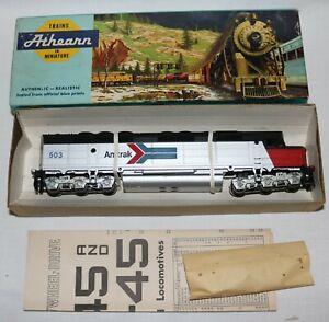 Vintage Athearn Blue Box #3621 Amtrak 503 FP 45 Powered Diesel Engine New in Box