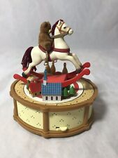 Jasco Rocking Horse And Bear Music Box Plays We Wish You A Merry Christmas