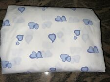 D PORTHAULT BY SCHWEITZER LINEN NYC~BLUE HEARTS TWIN FITTED~RARE