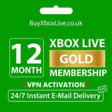 12 MONTHS XBOX LIVE GOLD MEMBERSHIP FOR XBOX 360 / XBOX ONE - BRAZIL VPN