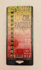 Mungyo Gallery Oil Pastels Set Of 12 slightly used, Fluorescent Colors, preowned