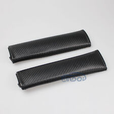 A Pair Fit Nissan Horton Toyota Audi Carbon Fiber Seat Belt Cover Shoulder Pads