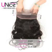 UNice 360 Lace Frontal 8A Brazilian Body Wave/Straight Virgin Human Hair Closure