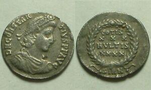 Rare original Ancient Roman coin Constantius 351AD Siliqua Laurel wreath Sirmium