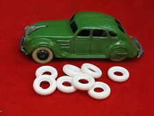Large Smooth Tires for Dinky Toys & Tootsie, white, 16-17mm, Lot of 8