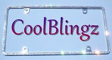 Small CRYSTAL Rhinestone License Plate Frame Bling made with Swarovski Elements