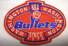 """NBA Washington Bullets 3.25"""" 87/88-96/97 Logo in Crest Embroidered NONIron Patch"""