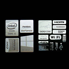 Haswell Intel Core i5 Logo Metal Decal Sticker Energy star Windows8 (combo E)