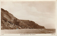 Branscombe Beach and Chalets Vintage c.1957 Real Photo (RP) Posted Postcard