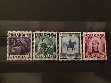 Romania 1939 100° Birth King Carol 4 Value MNH #390
