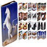 For Samsung Galaxy Series - Horse Theme Print Wallet Mobile Phone Case Cover (2)